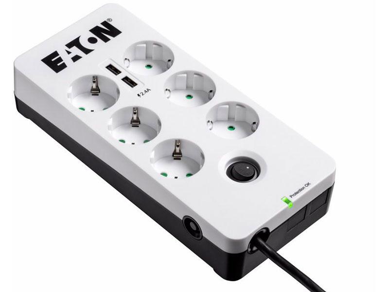 Eaton Protection Box 6 Sockets 1.8m PB6UD