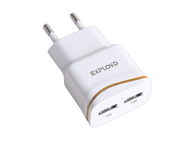 Зарядное устройство Exployd Classic 2xUSB 2.4A White EX-Z-983