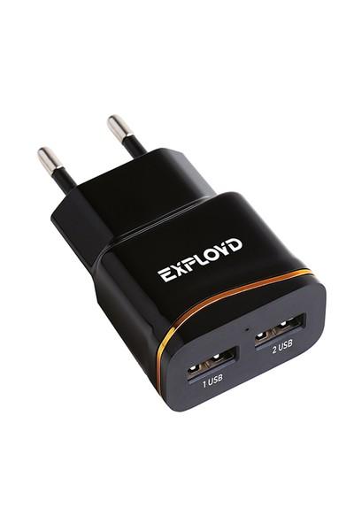 Зарядное устройство Exployd Classic 2xUSB 2.4A Black EX-Z-982