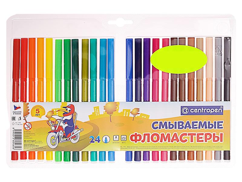 фломастеры Фломастеры Centropen Фломастеры 24 цвета 777902485