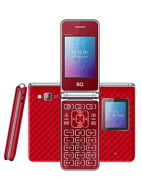 Фото - Сотовый телефон BQ 2446 Dream Duo Red мобильный телефон bq mobile bq 2446 dream duo gold