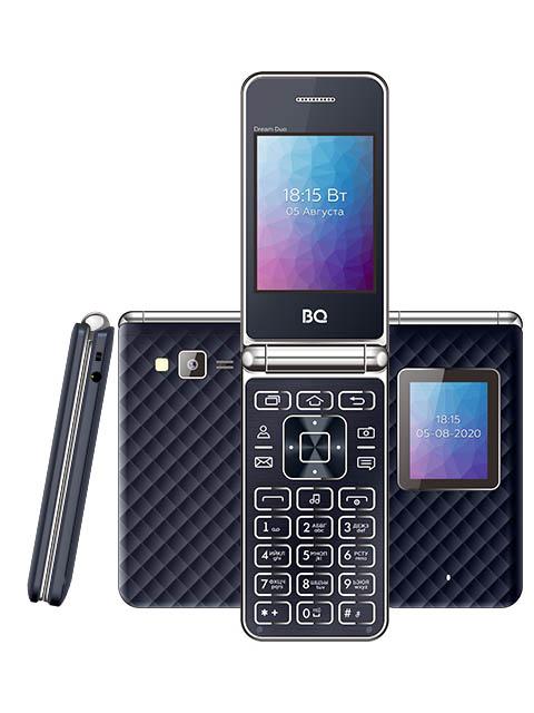 Фото - Сотовый телефон BQ 2446 Dream Duo Dark Blue мобильный телефон bq mobile bq 2446 dream duo gold