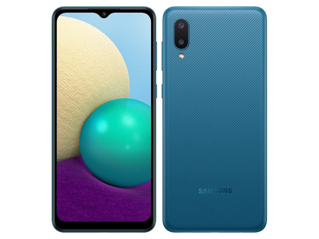 Сотовый телефон Samsung SM-A022GZ Galaxy A02 2/32Gb Blue сотовый телефон samsung sm a115f galaxy a11 2gb 32gb white