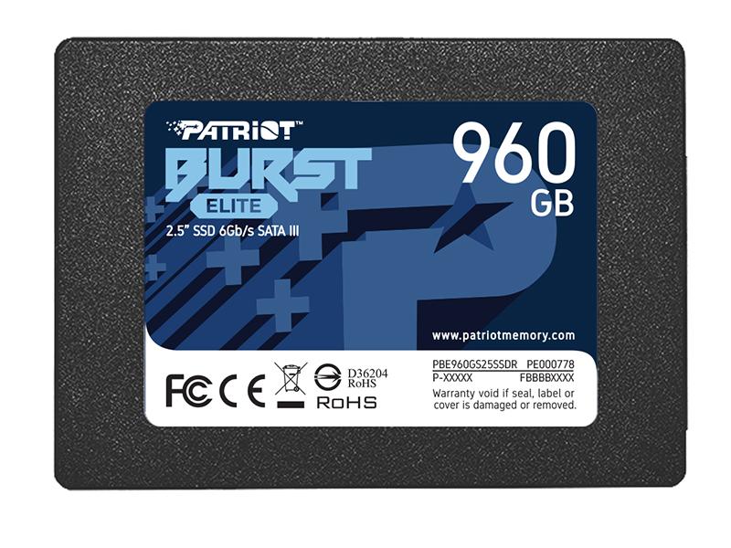 Твердотельный накопитель Patriot Memory Burst Elite 960Gb PBE960GS25SSDR