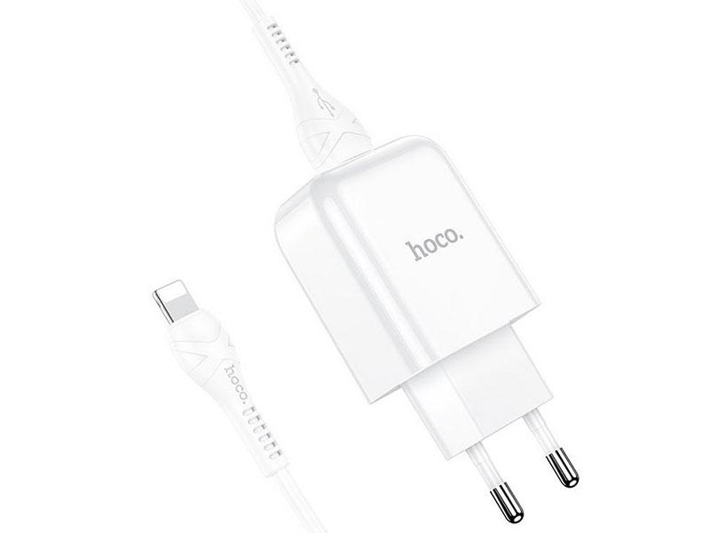 Зарядное устройство Hoco N2 Vigour Single 2A + кабель Lightning White