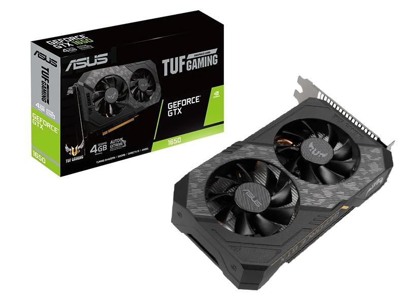 Видеокарта ASUS GeForce GTX 1650 TUF Gaming 1410Mhz PCI-E 3.0 4096Mb 12000Mhz 128 bit DP HDMI DVI TUF-GTX1650-4GD6-P-GAMING Выгодный набор + серт. 200Р!!!