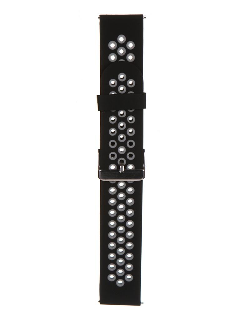 Аксессуар Ремешок Red Line для Huawei GT 46mm/GT2 Pro 46mm/GT2e 46mm Silicone Black-Grey УТ000024397