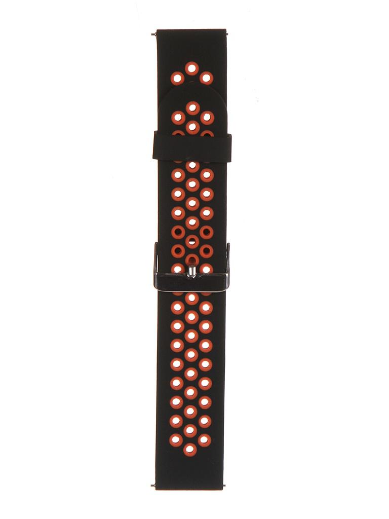 Аксессуар Ремешок Red Line для Huawei GT 46mm/GT2 Pro 46mm/GT2e 46mm Silicone Black-Red УТ000024398