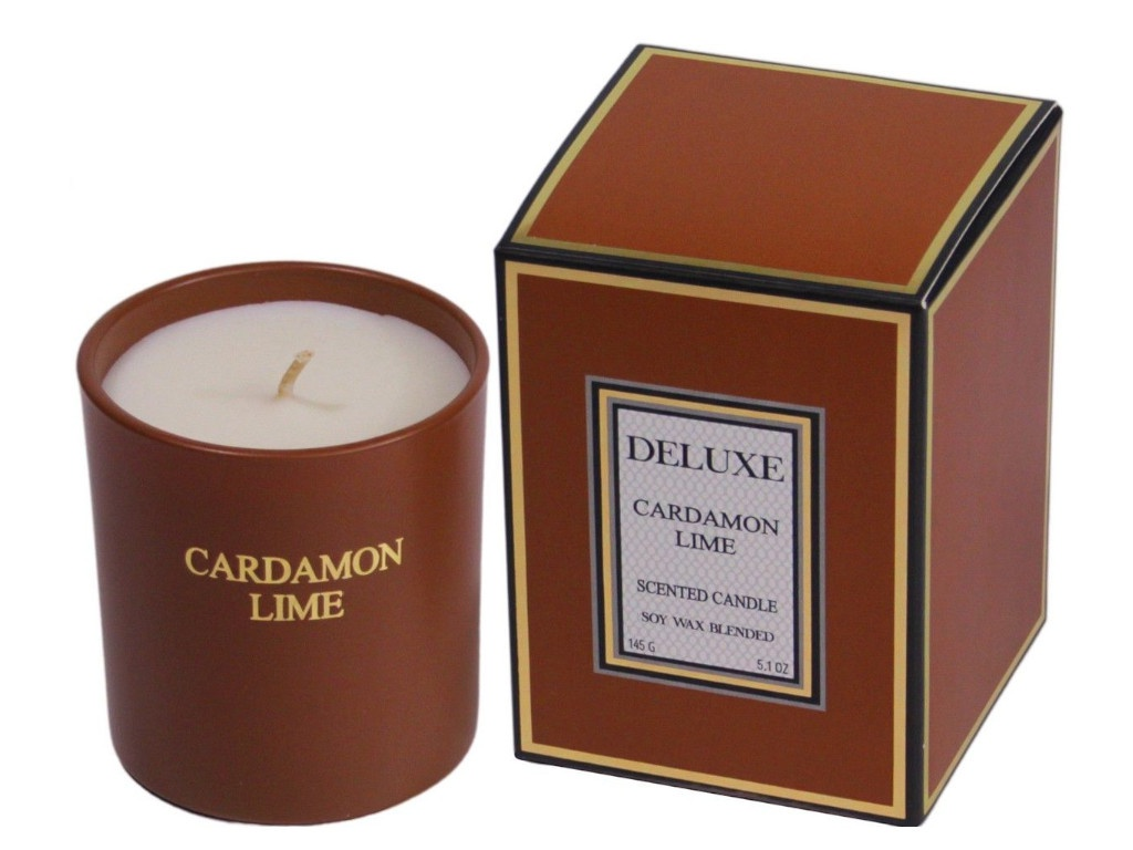 Ароматическая свеча Kaemingk Deluxe Aroma Кардамон-Лайм 205661/172650