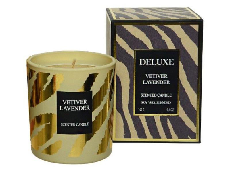 Ароматическая свеча Kaemingk Deluxe Exotic Лаванда-Ветивер 220016/172763