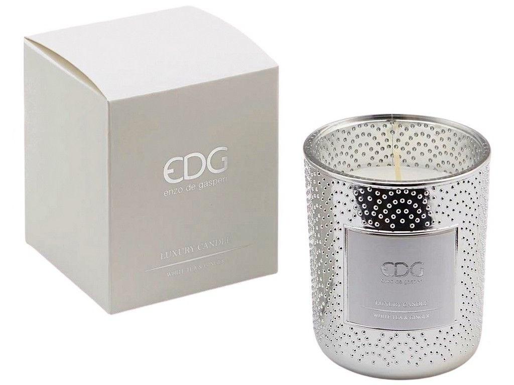 Ароматическая свеча EDG Изысканная Нежность Белый Чай-Имбирь 8cm 612932-02