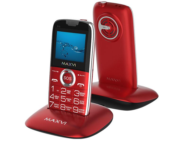 Фото - Сотовый телефон Maxvi B10 Red сотовый телефон