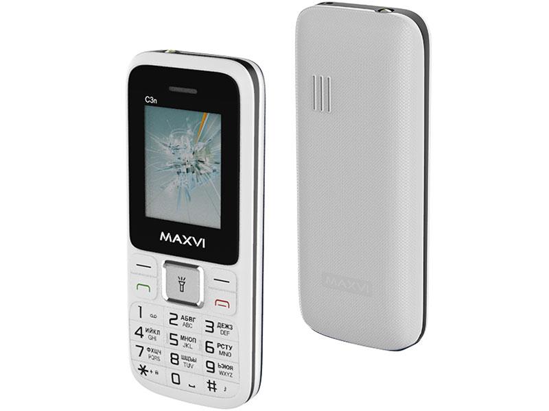 Фото - Сотовый телефон MAXVI C3i White сотовый телефон maxvi b5 grey