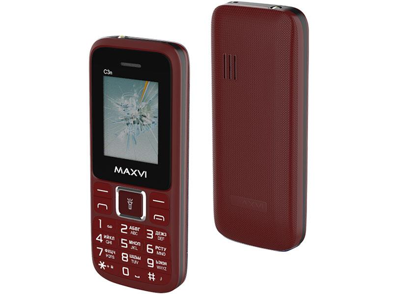 Сотовый телефон MAXVI C3n Wine Red