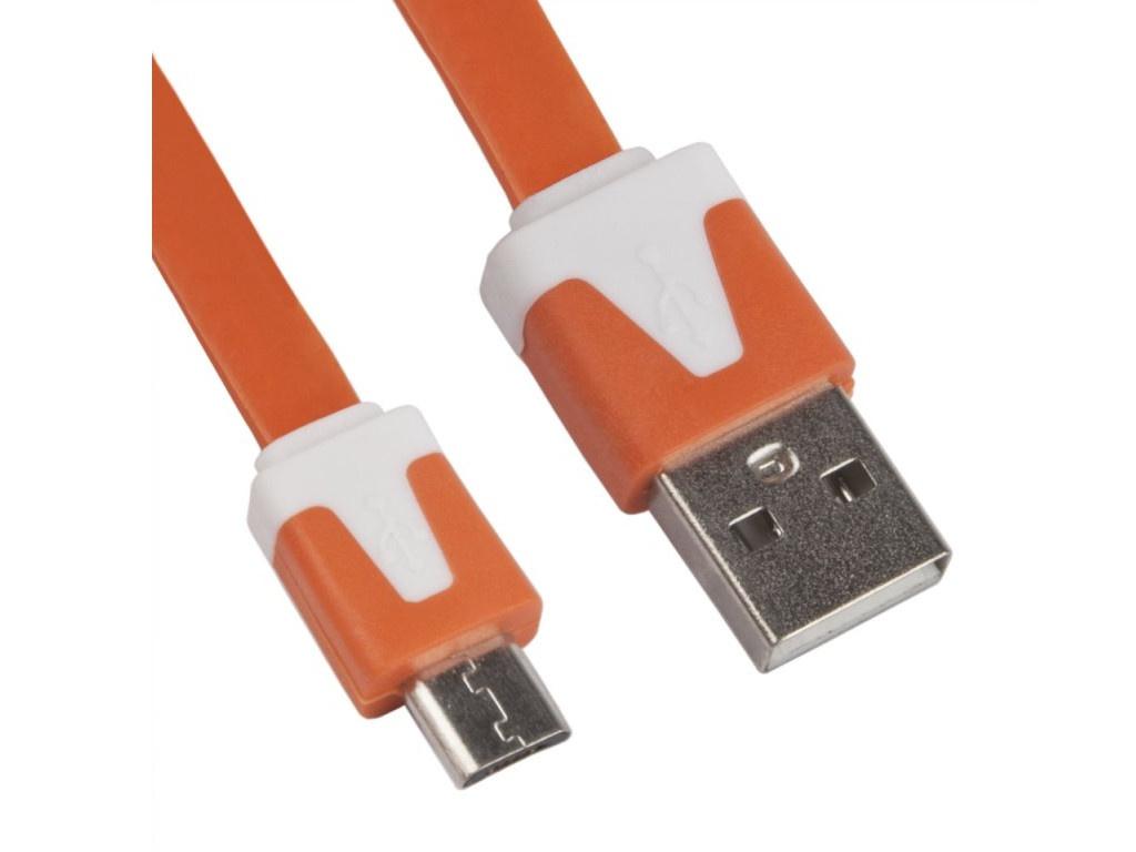 Аксессуар Liberty Project USB - MicroUSB 1m Orange R0003925