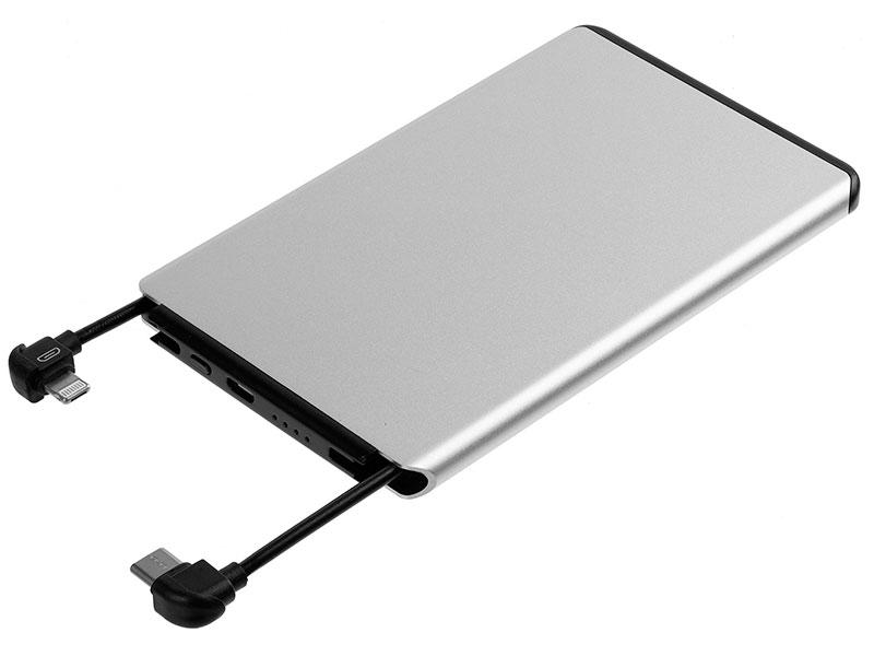 Внешний аккумулятор Molti Double Reel 5000mAh Silver 20200.10