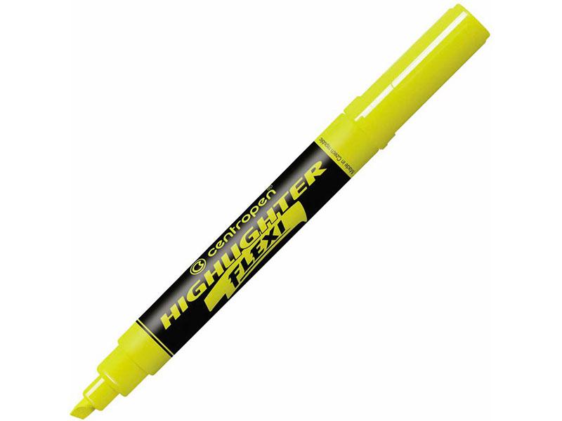 Маркер Centropen Flexi 1-5mm Yellow 4 8542 0127