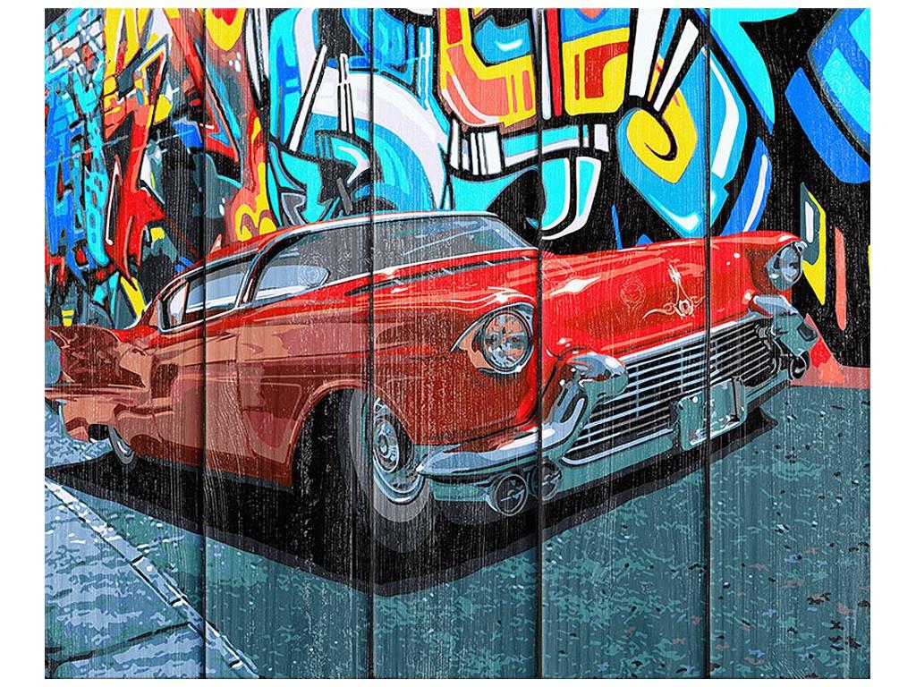 Картина по номерам Dali Арт дереву Красный кадиллак WN010