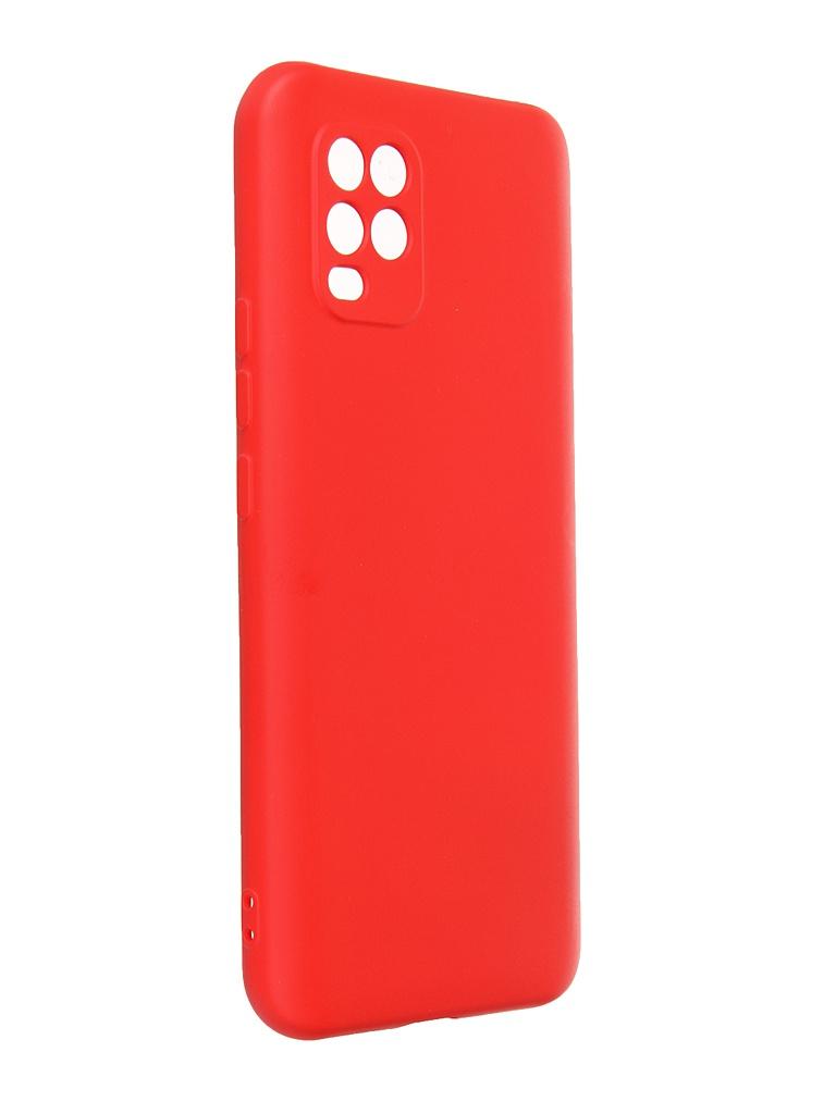 Чехол Krutoff для Xiaomi Mi 10 Lite Silicone Case Red 12454