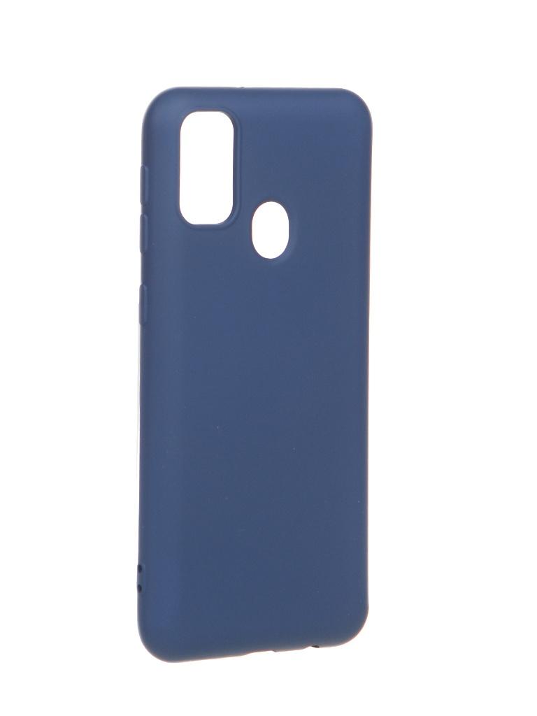 Чехол Krutoff для Samsung Galaxy M21 M215 Silicone Blue 12286