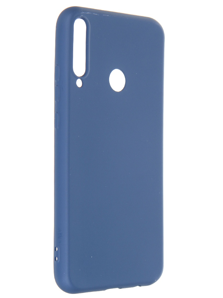 Фото - Чехол Krutoff для Huawei P40 Lite E / Honor 9C Silicone Case Blue 12325 смартфон huawei p40 lite e 4 64gb aurora blue ярко голубой