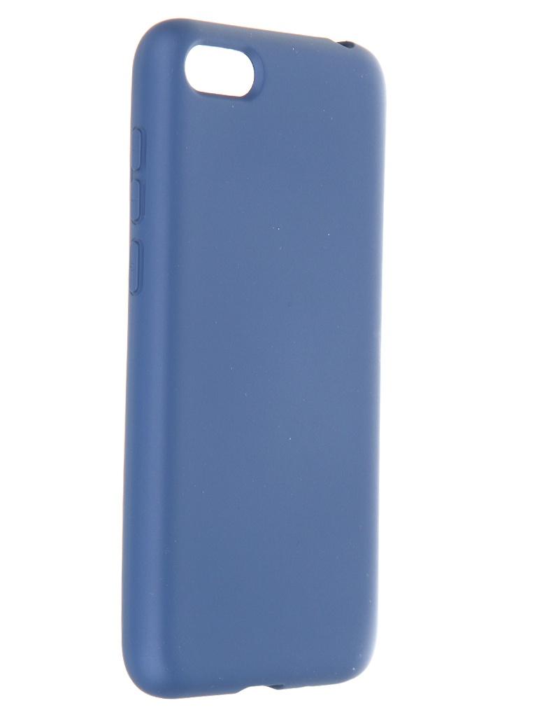 Фото - Чехол Krutoff для Huawei Y5 Prime 2018 / Y5 Lite 2018 / Honor 7A Prime / 7A / 7S Silicone Case Blue 12341 защитное стекло для honor 7a 7a prime 7s y5 lite y5 prime 2018 zibelinotg
