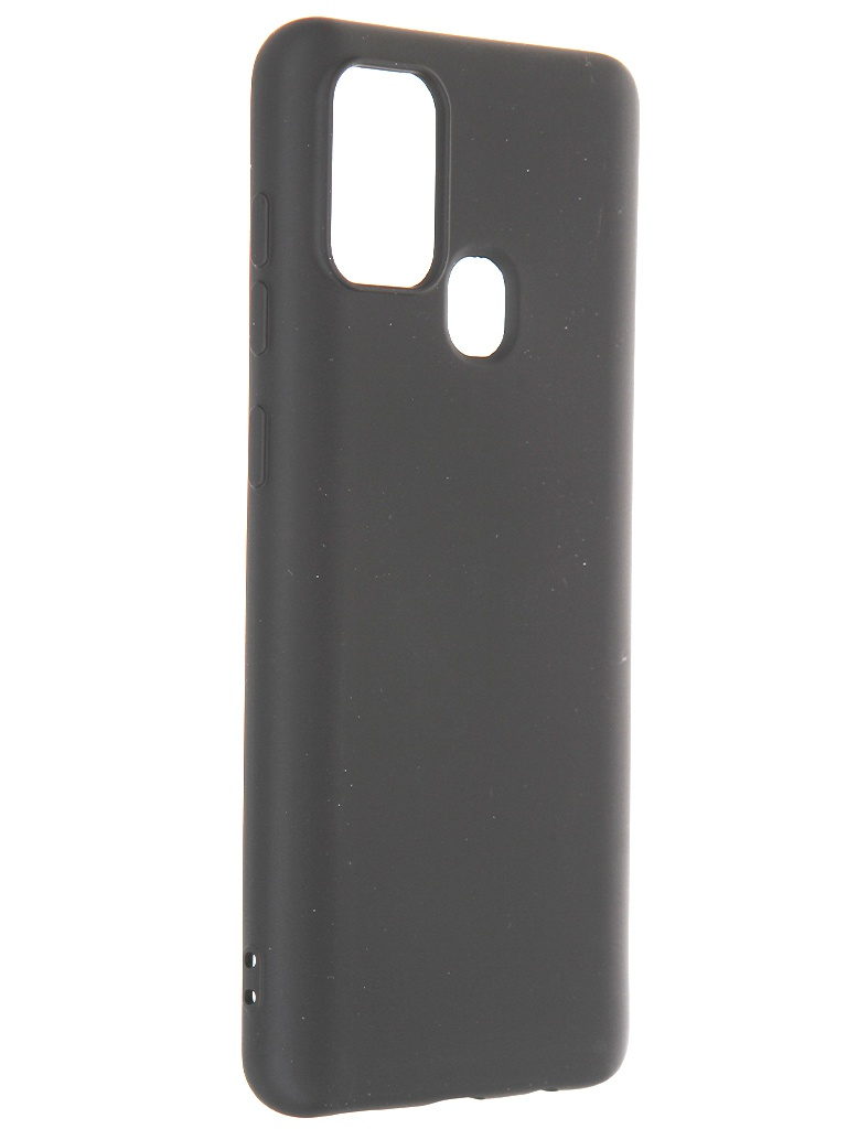 Чехол Krutoff для Samsung Galaxy A21s A217 Silicone Case Black 12428 чехол zibelino для samsung galaxy a21s a217 ultra thin case transparent zutc sam a217 wht
