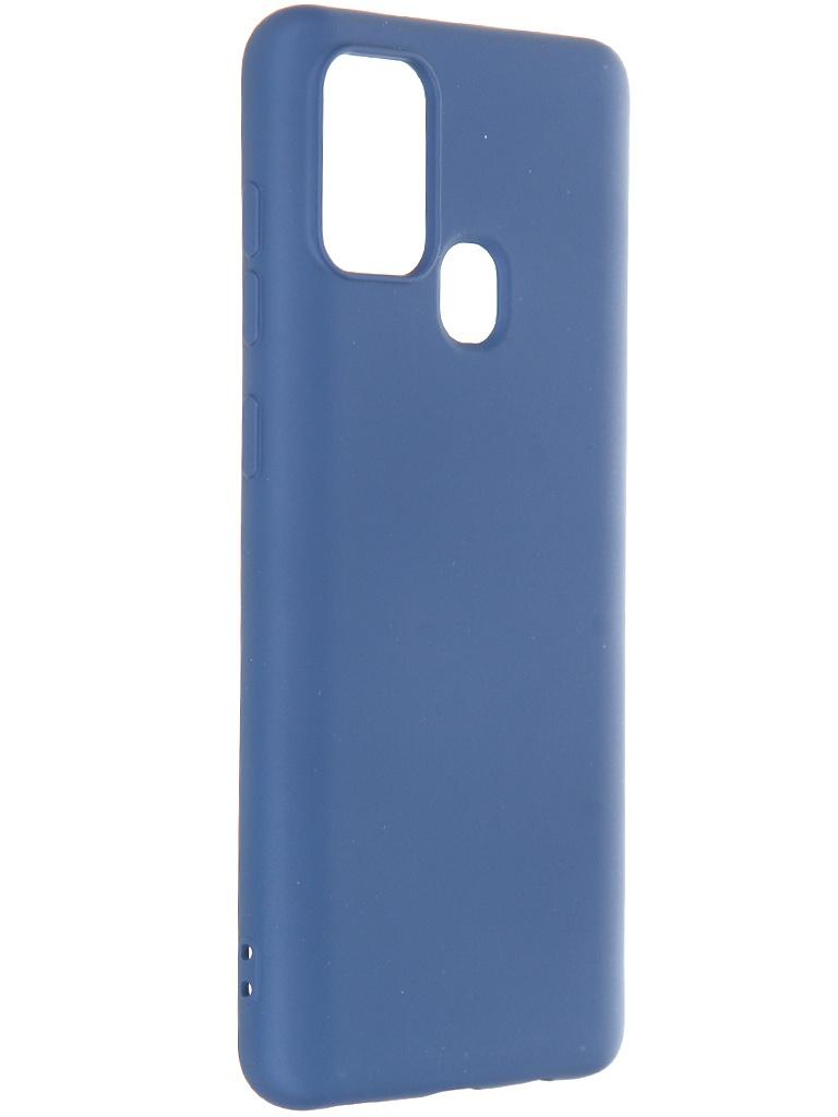 Чехол Krutoff для Samsung Galaxy A21s A217 Silicone Case Blue 12427