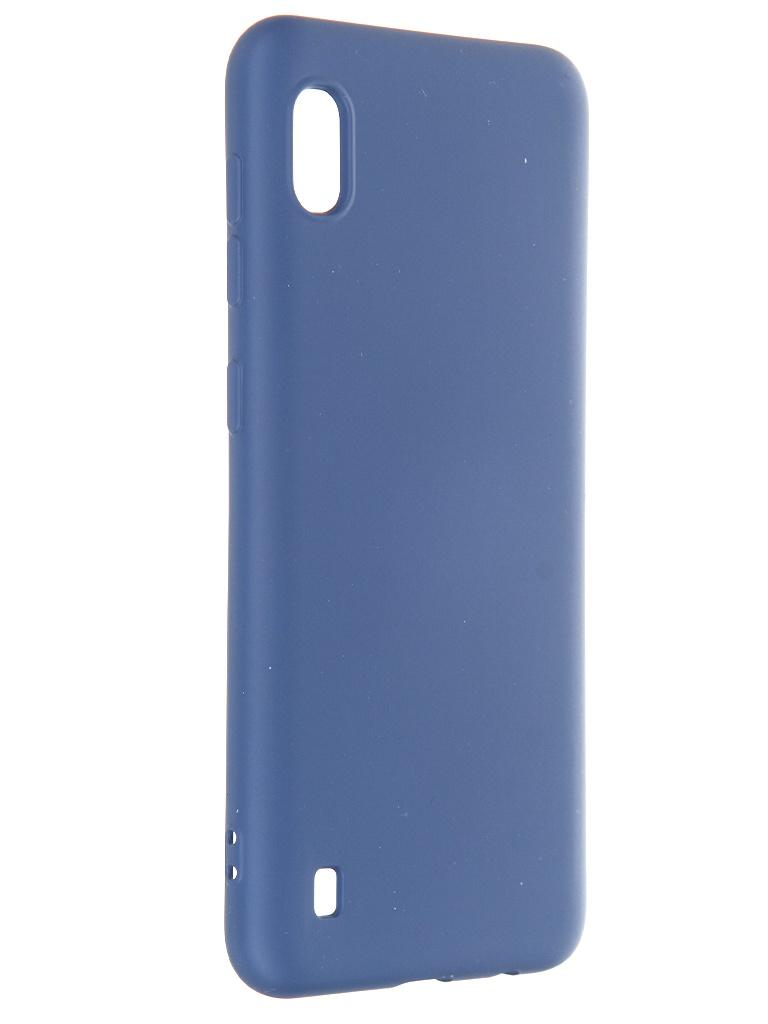Чехол Krutoff для Samsung Galaxy A10 A105 Silicone Case Blue 12403