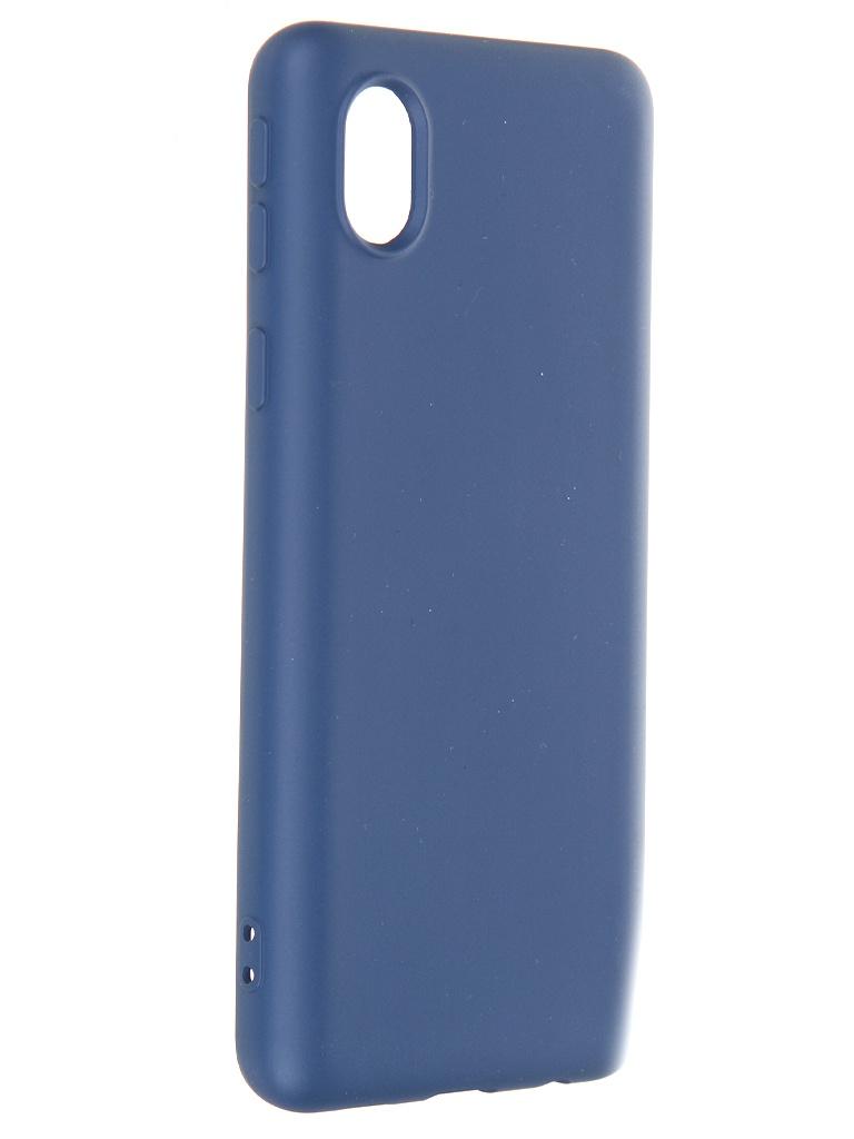 Чехол Krutoff для Samsung Galaxy A01 Core A013 Silicone Case Blue 12407