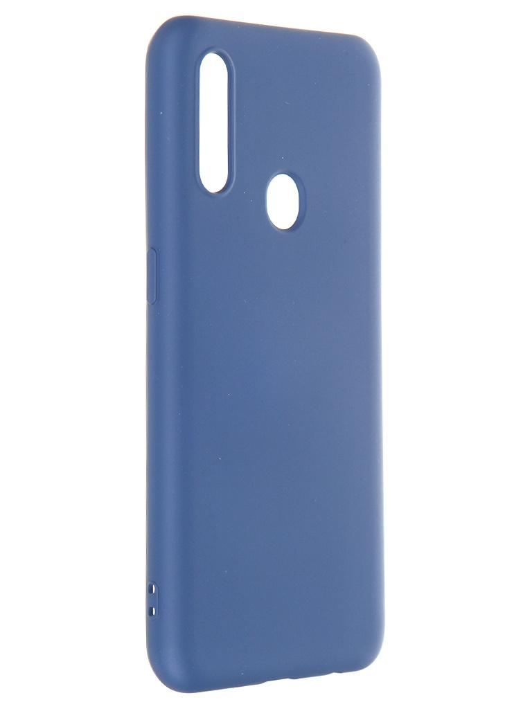 Чехол Krutoff для Oppo A31 Silicone Case Blue 12363