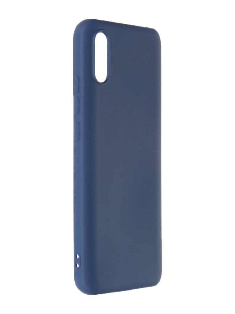 Чехол Krutoff для Xiaomi Redmi 9A Silicone Case Blue 12512