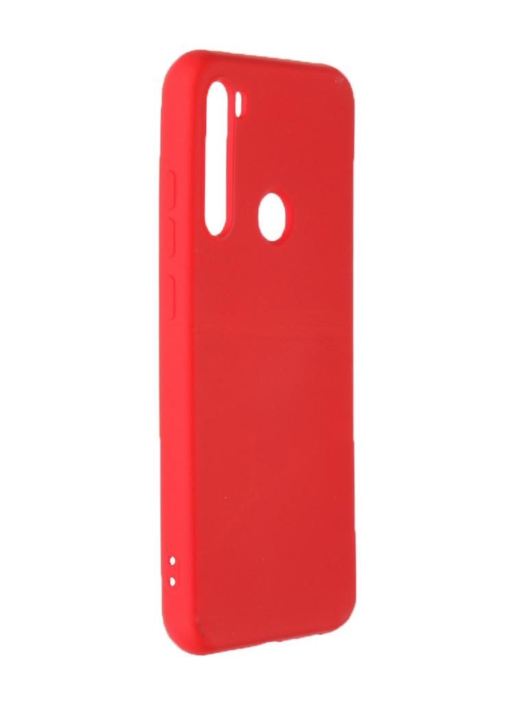 Чехол Krutoff для Xiaomi Redmi Note 8 Silicone Case Red 12520
