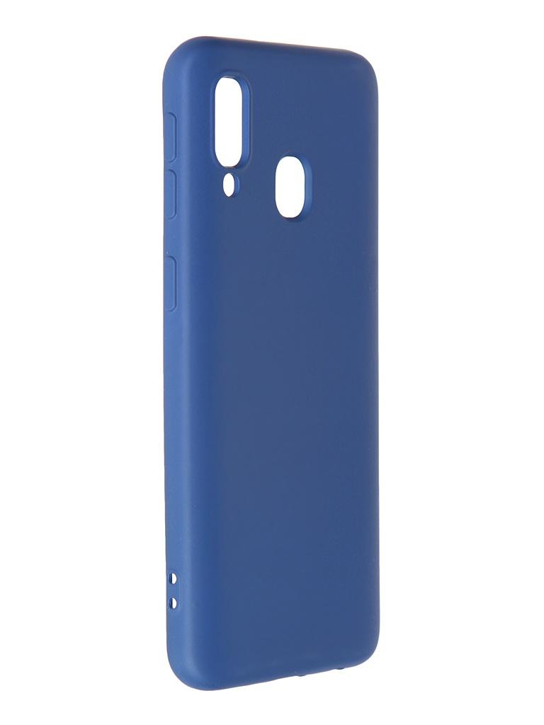Чехол Krutoff для Samsung Galaxy A40 A405 Silicone Blue 12432