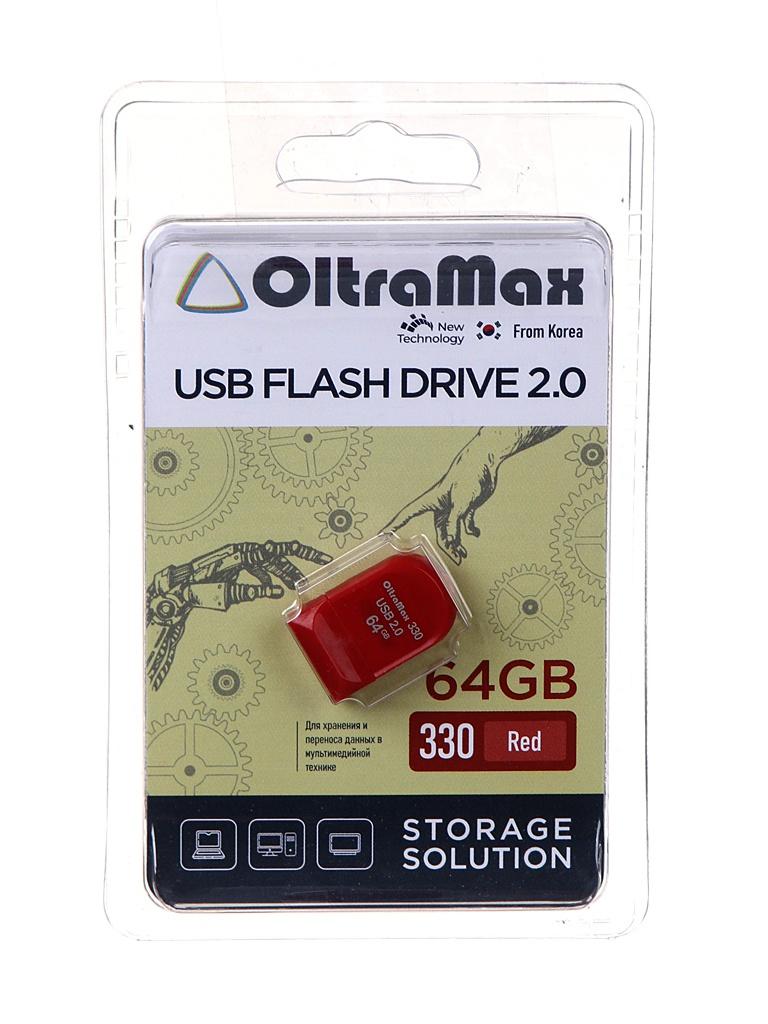 Фото - USB Flash Drive 64Gb - OltraMax 330 OM-64GB-330-Red usb flash drive 64gb oltramax 310 om 64gb 310 black
