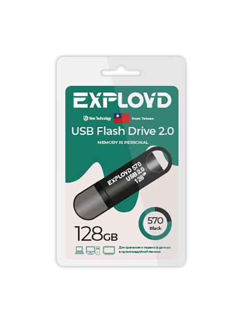 USB Flash Drive 128Gb - Exployd 570 EX-128GB-570-Black