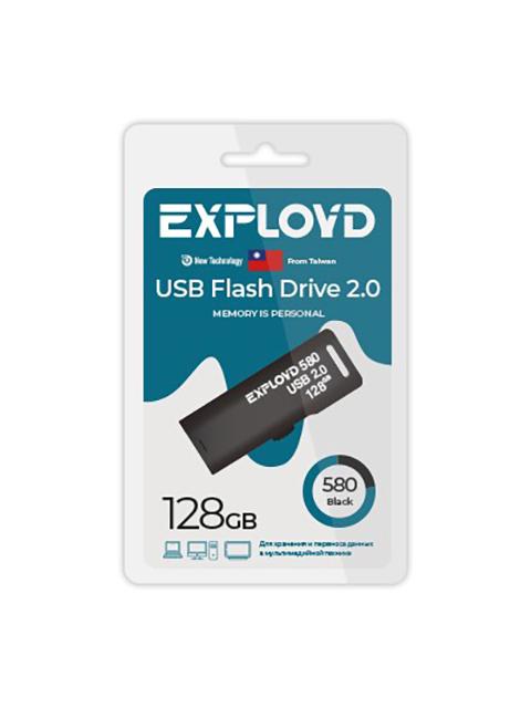 USB Flash Drive 128Gb - Exployd 580 EX-128GB-580-Black