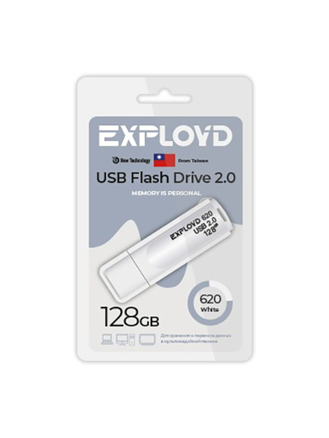 Фото - USB Flash Drive 128Gb - Exployd 620 EX-128GB-620-White usb flash drive 16gb exployd 650 ex 16gb 650 white