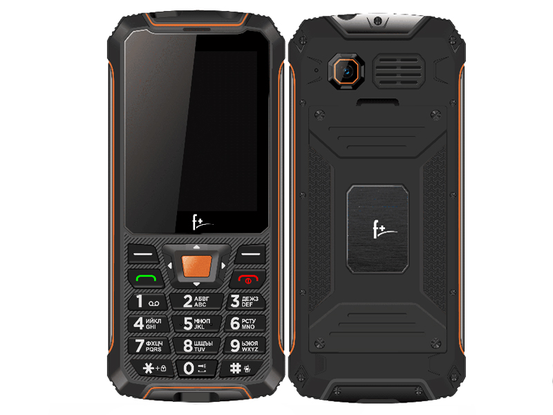 Сотовый телефон F+ R280 Black-Orange сотовый телефон strike f10 black