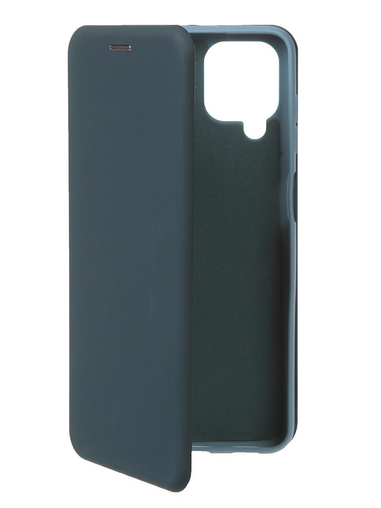 Чехол Krutoff для Samsung Galaxy A12 Soft Book Green Opal 12589