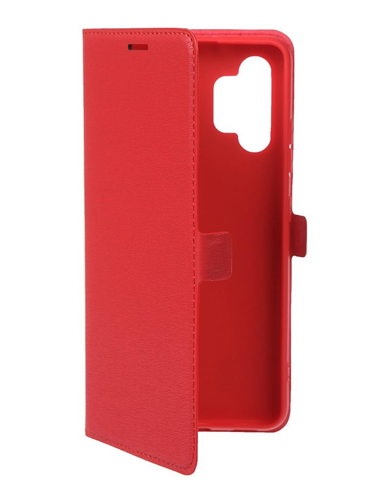 Чехол Krutoff для Samsung Galaxy A32 (A325) Eco Book Red 12549