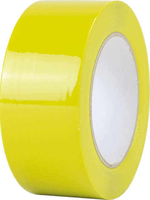 Лента ПВХ ОПП для разметки Мельхозе 50mm x 33m Yellow КМLG05033