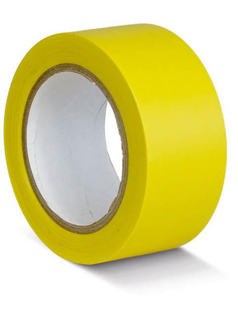 Лента ПВХ для разметки Мельхозе 75mm x 33m Yellow КМSG07533