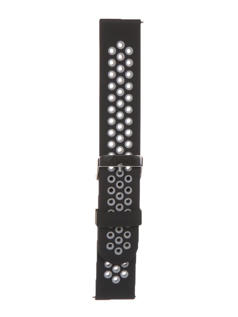 Аксессуар Универсальный ремешок Red Line 22mm Silicone Black-Grey УТ000024620