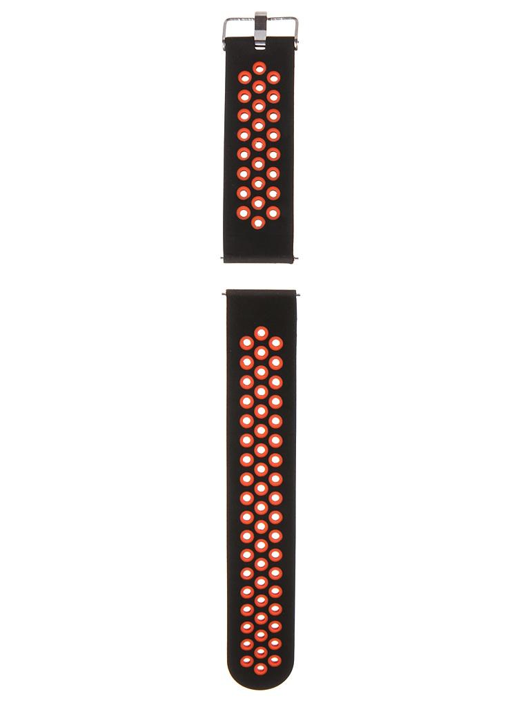 Аксессуар Универсальный ремешок Red Line 22mm Silicone Black-Red УТ000024619