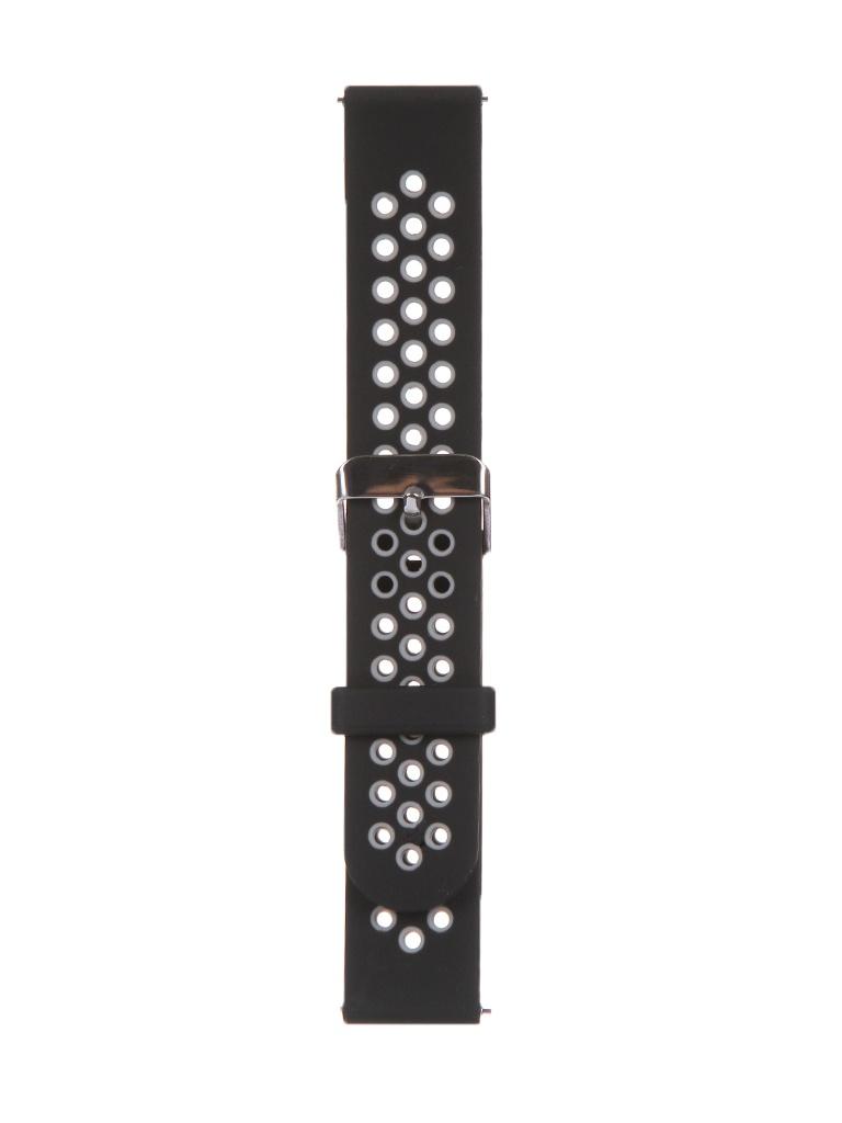Аксессуар Универсальный ремешок Red Line 20mm Silicone Black-Grey УТ000024615