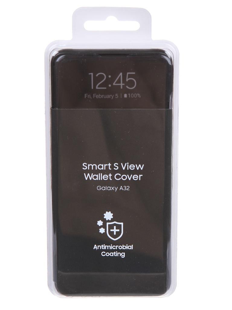 Чехол-книжка для Samsung Galaxy A32 Smart S View Wallet Cover Black EF-EA325PBEGRU