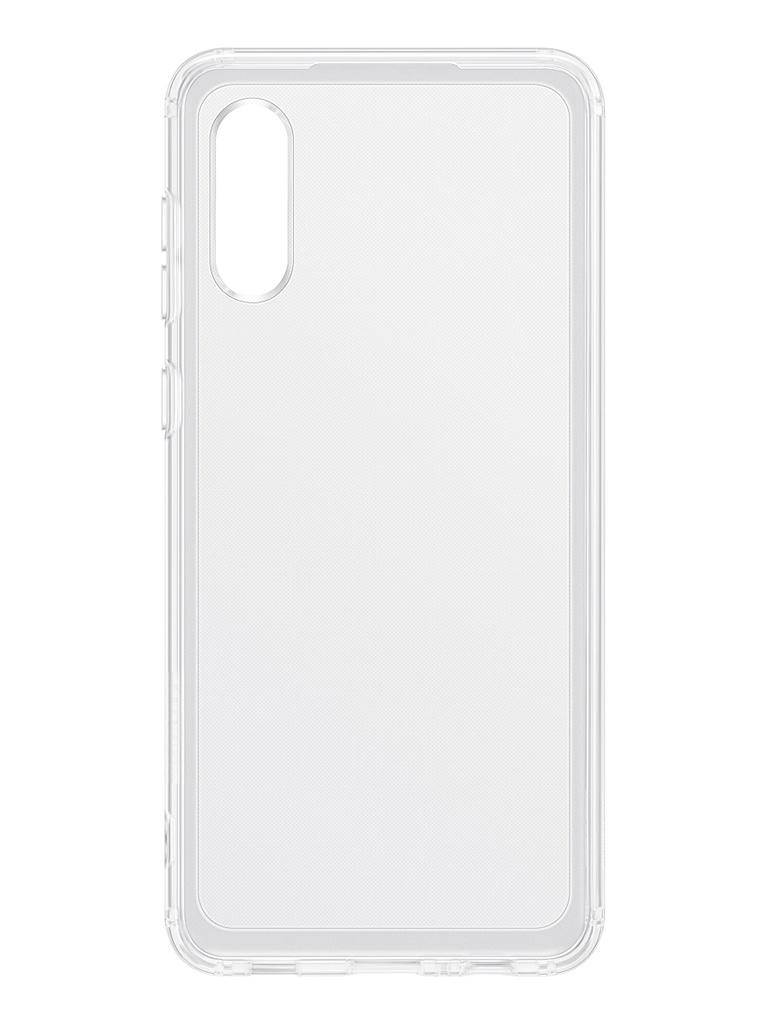 Чехол-накладка для Samsung Galaxy A02 Soft Clear Cover Transparent EF-QA022TTEGRU