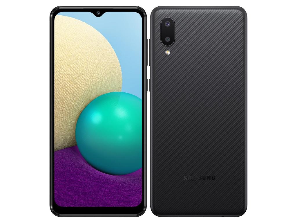 Сотовый телефон Samsung SM-A022GZ Galaxy A02 2/32Gb Black Выгодный набор + серт. 200Р!!! сотовый телефон samsung sm a115f galaxy a11 2gb 32gb white