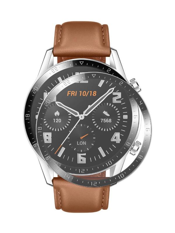 Aксессуар Защитное стекло LuxCase для Huawei Watch GT2 46mm 3D PMMA Black Frame 89377